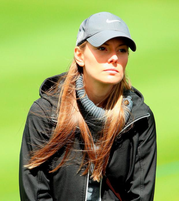Erica Stoll looks onduring the first round of the Dubai Duty Free Irish Open Hosted by the Rory Foundation at The K Club on May 19, 2016 in Straffan, . (Photo by Andrew Redington/Getty Images)