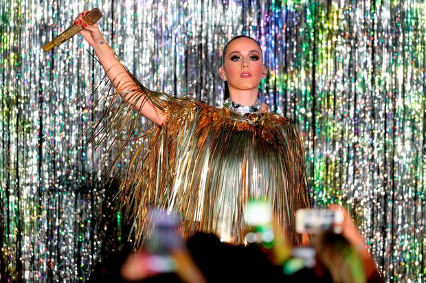 Katy Perry performs on stage at the amfAR's 23rd Cinema Against AIDS Gala at Hotel du Cap-Eden-Roc on May 19, 2016 in Cap d'Antibes, France. (Photo by Andreas Rentz/Getty Images)