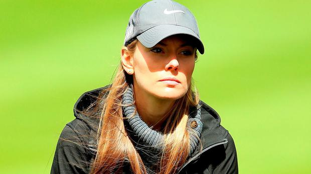 Erica Stoll looks on during the first round of the Dubai Duty Free Irish Open Hosted by the Rory Foundation at The K Club on May 19, 2016 in Straffan, Ireland. (Photo by Andrew Redington/Getty Images)