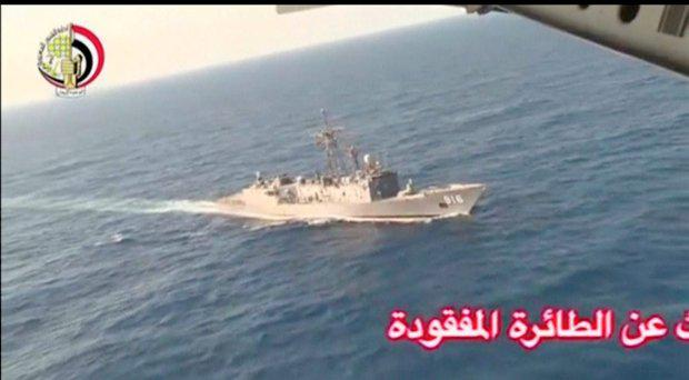 An Egyptian military search boat takes part in a search operation for the EgyptAir plane that disappeared in the Mediterranean Sea in this still image taken from video May 19, 2016
