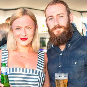 Katie Mythen Lynch & Johnny Lynch pictured at the launch of The House of Peroni, 1 Dame Lane. Picture: Anthony Woods