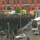 Scene of the incident on Cork's quays (Photo: Independent.ie/Olivia Trought)