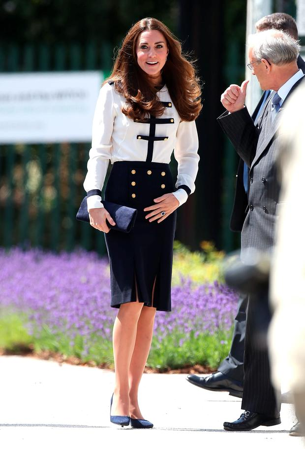 Catherine, Duchess of Cambridge during an official visit to Bletchley Park on June 18, 2014 in Bletchley, England. (Photo by Danny E. Martindale/Getty Images)