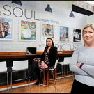 Arlene Regan Marketing and Promotions Manager at IN&M and Cliona Carroll Sponsorship Events Manager at IN&M at the Irish Independent Lounge at HOUSE - Ireland's New Interior Design Event which takes place at the RDS from Friday till Sunday. Pic Steve Humphreys
