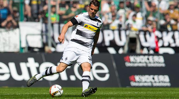 MOENCHENGLADBACH, GERMANY - May 07: Granit Xhaka of Borussia Moenchengladbach controls the ball during the Bundesliga match between Borussia Moenchengladbach and Bayer Leverkusen at Borussia-Park on May 07, 2016 in Moenchengladbach, Germany (Photo by Christian Verheyen/Borussia Moenchengladbach via Getty Images)