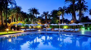 The saltwater pool at the Seaside Palm Beach Hotel in Maspalomas