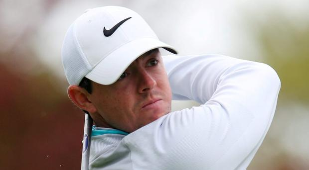 Northern Ireland's Rory McIlroy tees off at the 7th hole during the second round Action Images via Reuters / Paul Childs