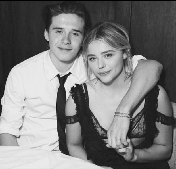 Chloe Grace Moretz and Brooklyn Beckham. Photo: Instagram