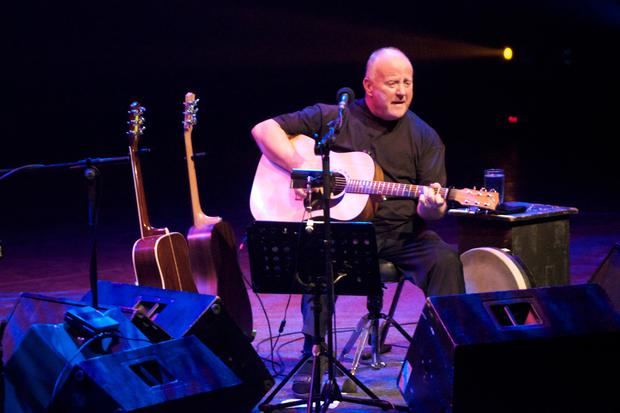 Christy Moore performs on stage at the Royal Festival Hall on April 4, 2012 in London, United Kingdom.
