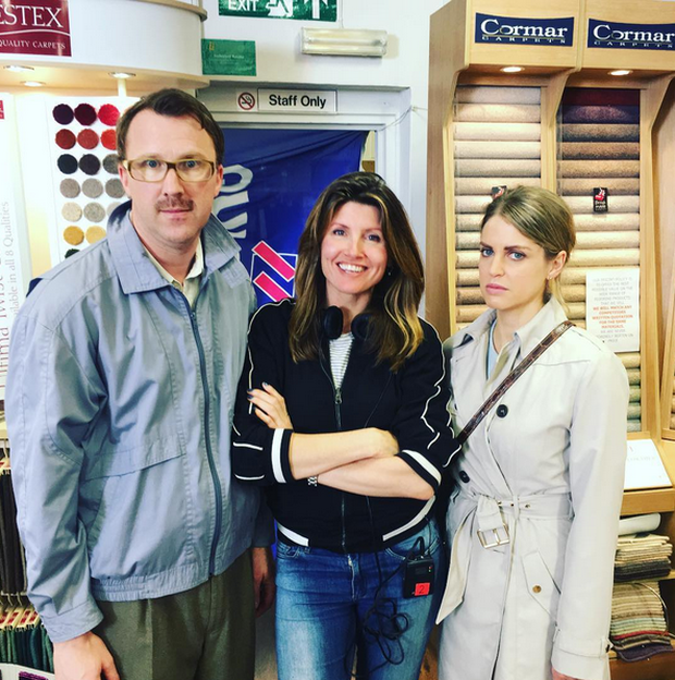 Jason Byrne, Sharon Horgan and Amy Huberman. Photo: Instagram