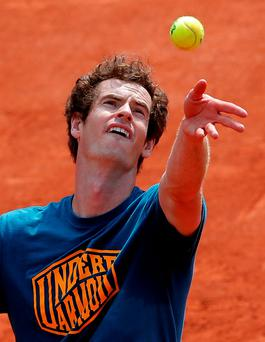 Andy Murray looking forward to Roland Garros. Photo: Christophe Ena/AP