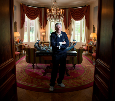 Special K: Dr Michael Smurfit pictured at his house at the K Club Photo: Mark Condren