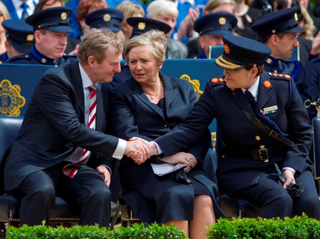United front: Garda Commissioner Noirin O'Sullivan has been given the full support of Taoiseach Enda Kenny and Tanaiste and Justice Minister Frances Fitzgerald Photo: Mark Condren