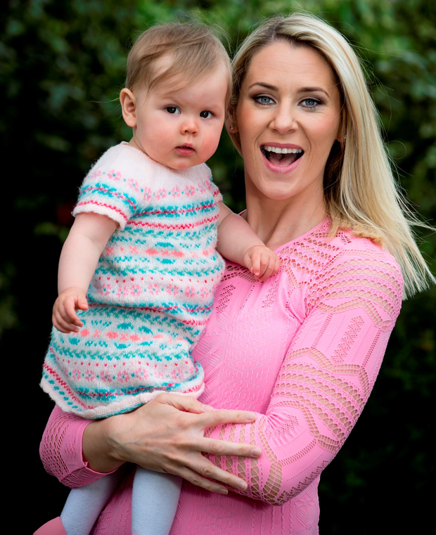 Busy working mum: RTE sports broadcaster Evanne Ní Chuilinn juggles a successful career with raising her daughter Peigí and son Seimi (4) Photo: Mark Condren