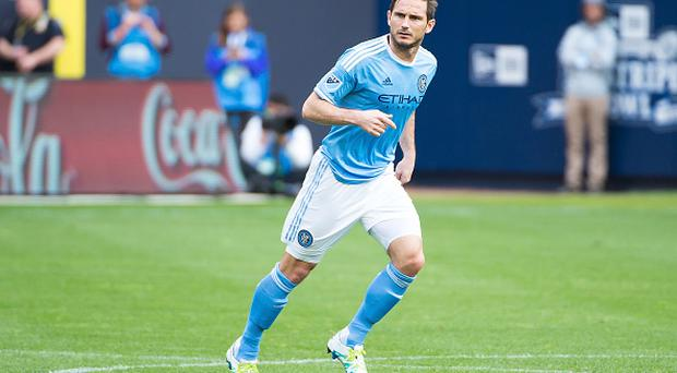 NEW YORK, NY - MAY 21: Midfielder Frank Lampard #8 of New York City FC enters the match for the first time this season during the match vs New York Red Bulls at Yankee Stadium on May 21, 2016 in New York City. New York Red Bulls defeats New York City FC 7-0. (Photo by Michael Stewart/Getty Images)