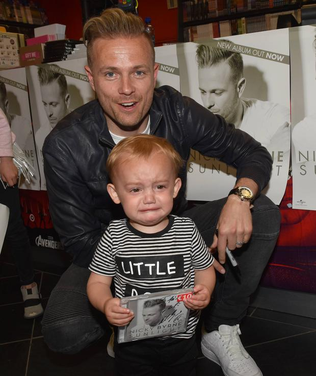 Former Westlife star Nicky Byrne signs copies of his new album Sunlight at Golden Discs St Stephens Green, Dublin, Ireland