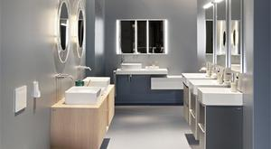 Speaking of this year's bathroom trends, Joanne Langton, Marketing Manager of Laufen revealed that people are focusing on clever storage as a priority in 2016.