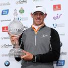Rory McIlroy with the winning trophy