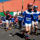 Children from the Liberties heartland of Dublin making their way to a training session organised for them by Kevin's Hurling and Camogie Club