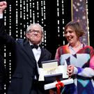 "Director Ken Loach (L), Palme d'Or award winner for his film ""I, Daniel Blake"", reacts next to producer Rebecca O'Brien during the closing ceremony of the 69th Cannes Film Festival in Cannes, France. Photo: Reuters/Yves Herman"