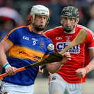 Tipperary's Michael Breen in action against Damien Cahalane of Cork during the Munster GAA Hurling Senior Championship Quarter-Final match. Photo: Dáire Brennan/Sportsfile