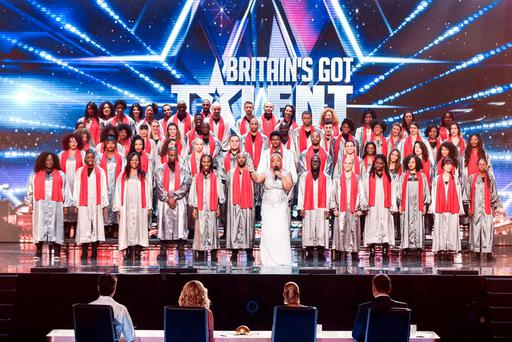 100 Voices of Gospel who have been voted through to this year's final for ITV1's talent show, Britain's Got Talent. Photo: Syco/Thames TV/PA Wire