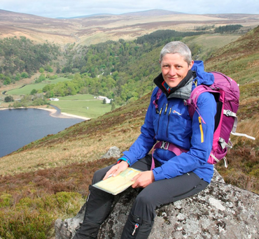 Helen Lawless of Mountaineering Ireland hiking in the Dublin Mountains near the Sally Gap and Luggala Photo: Mark Doyle Photo: Mark Doyle