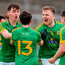 Meath's Daragh Champion, left, James Conlon, 13, Ethan Devin and Eoin Smyth rejoice in their victory. Photo: Sportsfile