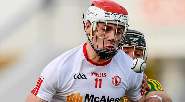 Tyrone's Damien Casey inspired the Red Hand with a stunning 1-17 haul. Photo: Oliver McVeigh / Sportsfile