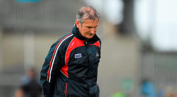 Cork manager Kieran Kingston can't hide his disappointment. Photo: Sportsfile