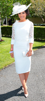 Kirsty Farrell, from Newry, won the Killashee Irish Tatler Style Icon at the Curragh Photo: Brian McEvoy