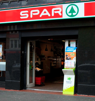 The Spar shop where the €5.5m jackpot-winning ticket was bought Photo: Collins Dublin, Gareth Chaney