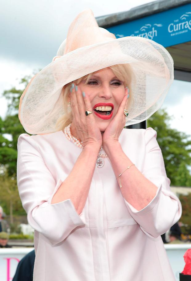 Joanna Lumley at the Killashee Irish Tatler Style Icon competition at The 1000 Guineas at the Curragh Racecouse, Kildare. Picture: Brian McEvoy