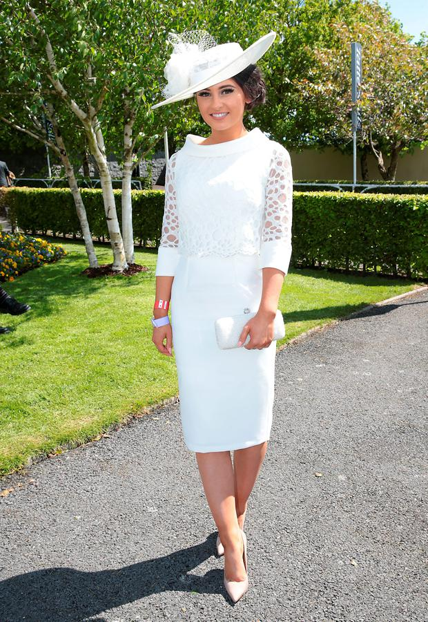 Kirsty Farrell from Newry at the Killashee Irish Tatler Style Icon competition at The 1000 Guineas at the Curragh Racecouse, Kildare. Picture: Brian McEvoy