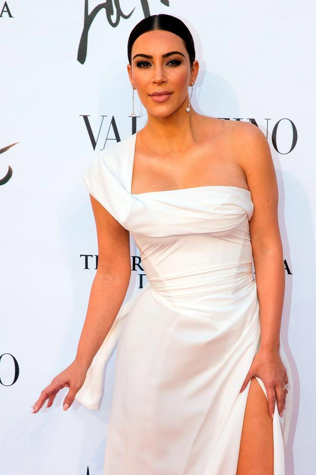 Kim Kardashian at the premiere of Verdi's