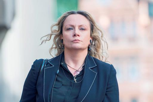 Jennie Gray arrives at the Central Criminal Court in the City of London to give evidence after admitting a charge of perverting the course of justice, in the trial of her partner Ben Butler who stands accused of killing their six-year-old daughter Ellie Butler in a fit of anger