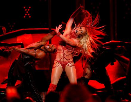 Millennium Award recipient Britney Spears performs a medley of songs at the 2016 Billboard Awards in Las Vegas, Nevada, U.S., May 22, 2016. REUTERS/Mario Anzuoni TPX IMAGES OF THE DAY
