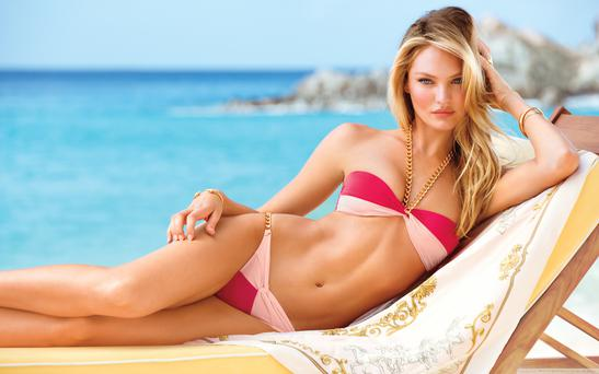 Candice Swanepoel for Victoria's Secret swimwear