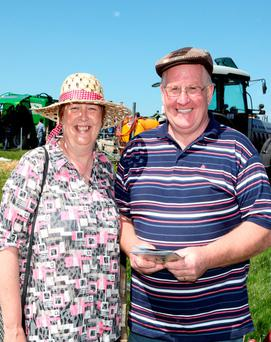 Ann Marie and Pat Nealan from Killala, Co Mayo enjoying the sunshine at the Connacht Spring Show in Ballinrobe. Photo: Trish Forde.