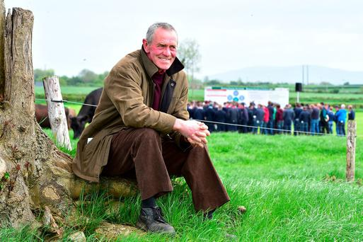 Sean Phelan from Galmoy takes time out during the Teagasc Greenfield Open Day 2016 in Co Kilkenny. Photo Roger Jones.