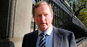 Taoiseach Enda Kenny outside Leinster House. Photo: Tom Burke