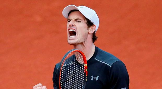 Andy Murray admitted he's sometimes embarrassed when he sees replays of matches. Photo: Gonzalo Fuentes/Reuters