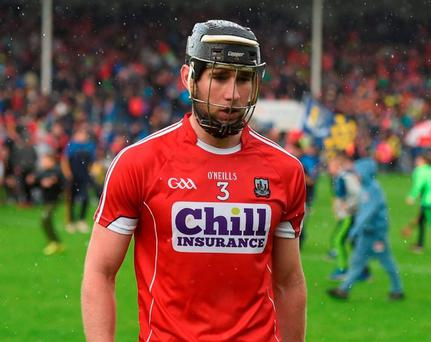 Cork's Mark Ellis shows his disappointment after defeat against Tipperary. Photo: Stephen McCarthy/Sportsfile