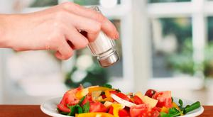 Study found too little salt in diet is unhealthy. Stock Image