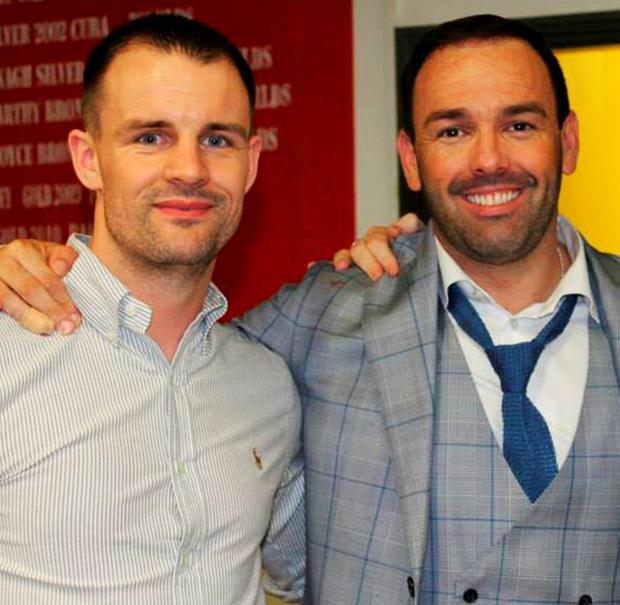 New MGM boss Sam Kynoch (left) with Daniel Kinahan