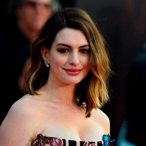 "Actress Anne Hathaway attends the premiere of Disney's ""Alice Through The Looking Glass,"" May 23, 2106 at the El Capitan Theatre"