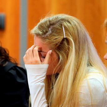 Mayka Marica Kukucova appears in court in Malaga, Spain, where she is accused of killing her former partner, British millionaire Andrew Bush. Steve Parsons/PA Wire