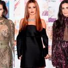(L to R) Kim Kardashian, Cheryl and Demi Moore at the Vogue 100 Festival at Kensington Gardens