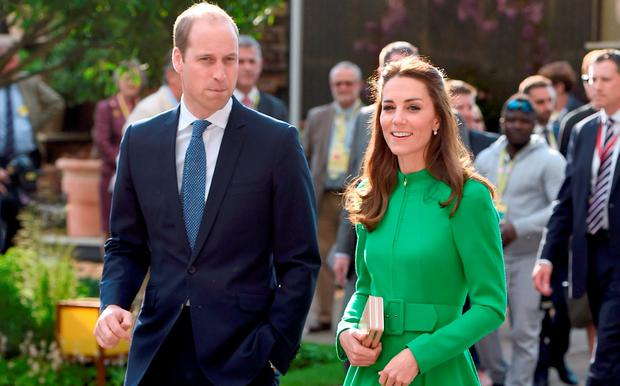 The Duke and Duchess of Cambridge during a visit to the RHS Chelsea Flower Show, at the Royal Hospital Chelsea