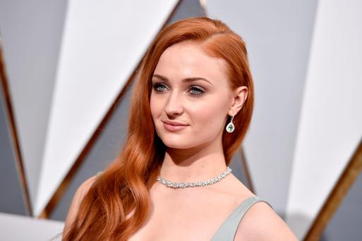 Actress Sophie Turner attends the 88th Annual Academy Awards at Hollywood & Highland Center on February 28, 2016 in Hollywood, California. (Photo by Kevork Djansezian/Getty Images)